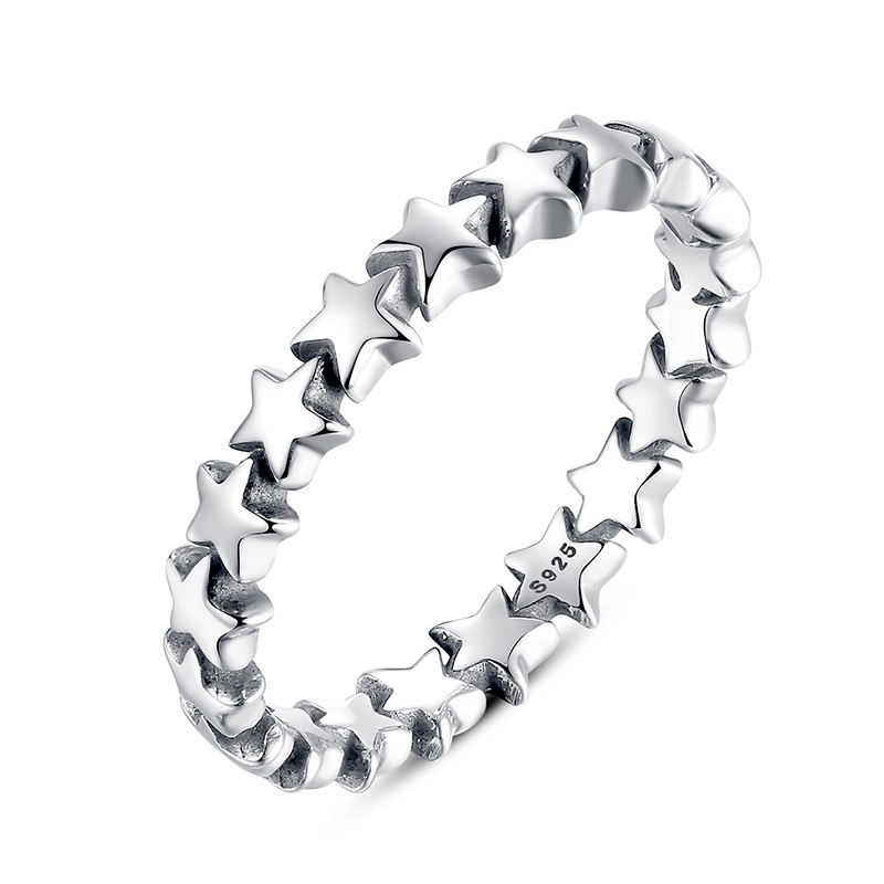 100-Authentic-925-Sterling-Silver-Star-Trail-Stackable-Party-Rings-For-Women-Compatible-with-Original-Pandora